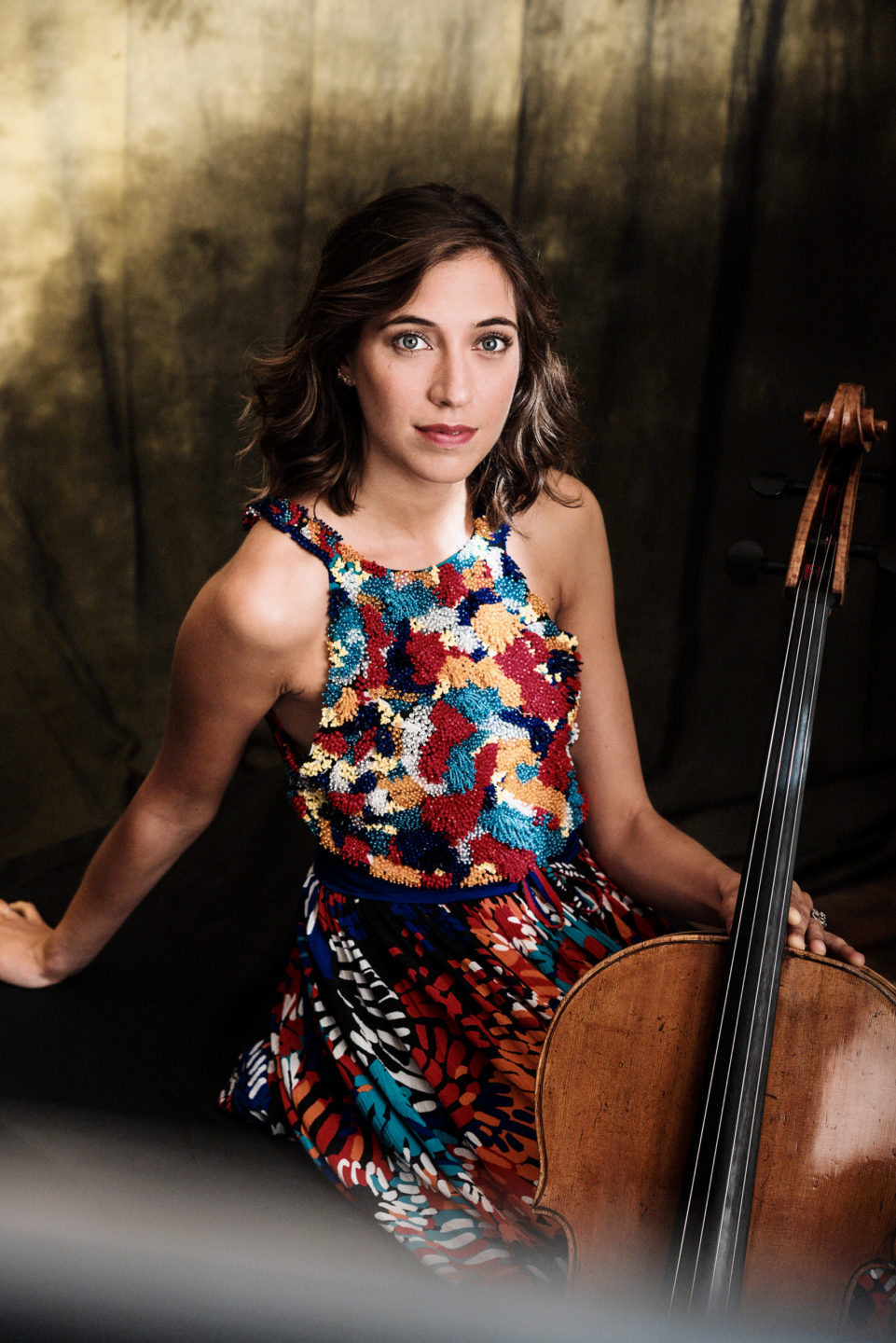 """2020 Camille Thomas, the cellist, Press photo for the release of her new album """"Voice of Hope"""" with Deutsche Grammophon"""